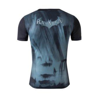 Good Quality Big Size XS-4XL Batman Short Sleeve O-neck Women Men Unisex Hero T Shirt(Grey) - intl - 3