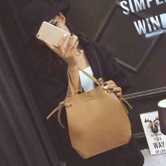 Harga Bucket Bag Comes With Pouch Brown