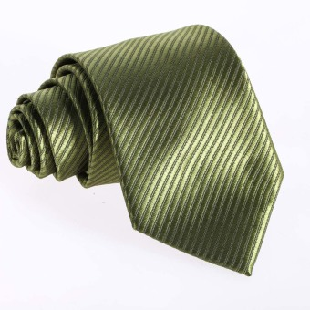 lassic Jacquard Woven Men's Silk Tie Necktie Ties Wedding Party(Green)