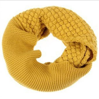 Harga Corn Scarf Neck Scarves Knitted Wool Double Circle Scarves Female Yellow - intl