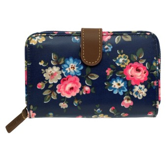 Harga Cath Kidston Oilcloth Folded Zip Wallet 16SS Latimer Rose Colour Dark Navy 555456