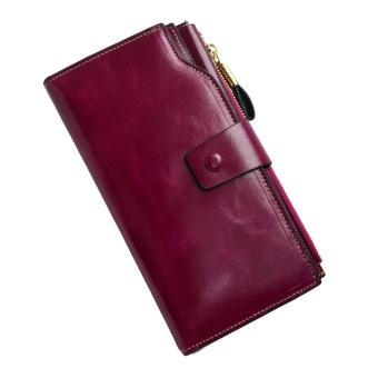 Harga ORIGINAL VERA PELLE WALLET, LEATHER LONG WOMEN'S WALLET VIOLET