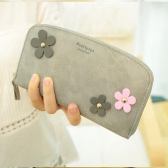 Harga PU Leather Clutch Flower Lady Women Wallet Long Money Wallet Famous Designer Purses And Handbags 2016 Wallets Ladies - intl