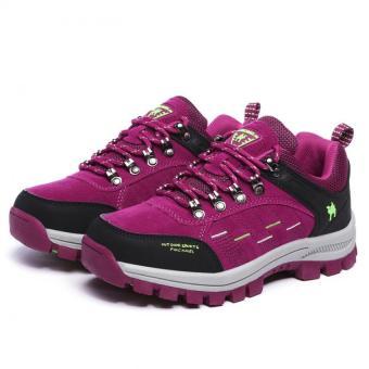 KAILIJIE Women's Suede Leather Outdoor Walking Shoes (Purple) - Intl - 5