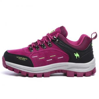 KAILIJIE Women's Suede Leather Outdoor Walking Shoes (Purple) - Intl - 3