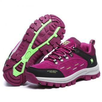 KAILIJIE Women's Suede Leather Outdoor Walking Shoes (Purple) - Intl - 4