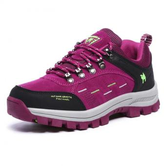 KAILIJIE Women's Suede Leather Outdoor Walking Shoes (Purple) - Intl - 2
