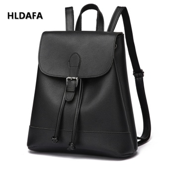 Harga Summer New Women Fashion Backpacks Casual Korean Female Package (Black) - intl
