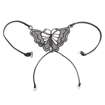 Harga Butterfly Bra Underwear Cross Back (Black)