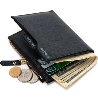 Harga Men Wallet New Fashionable Cross Pattern Men Leather Wallet - Intl