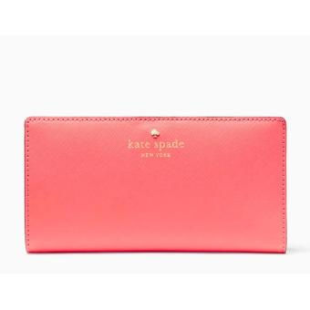Harga Kate Spade Mikas Pond Stacy Wallet (Coral Sunset)