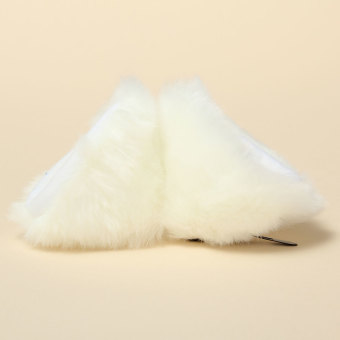 Harga Cosplay Party Cat Fox Long Faux Fur Ears Wig Anime Neko Costume Hair Clip White