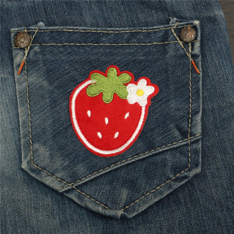 Harga Strawberry Iron On Patch Sew Embroidered Applique Trip Food Cute Badge Nature Red NEW - intl