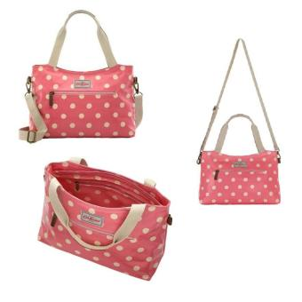 Harga Cath Kidston BUTTON SPOT ZIPPED HANDBAG WITH DETACHABLE STRAP