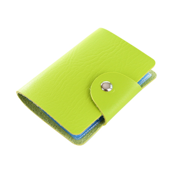 Harga Korea cute card pack card bit more than women anti degaussing bank card sets student card bag credit card holder business card holder (Green color)