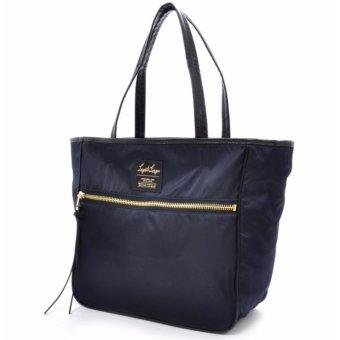 [Anello x Legato Largo] 10 pockets 2 way nylon shoulder bag with sling strap (Large size,Navy) - 2