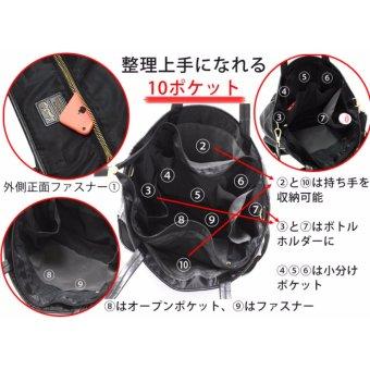 [Anello x Legato Largo] 10 pockets 2 way nylon shoulder bag with sling strap (Large size,Navy) - 4