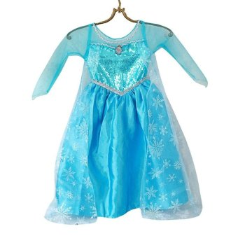 Harga Hot Sell American Anime Characters Icebound ELsa Dress For Girls Loel Princess Inspired Girls Party Princess Dress - intl