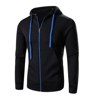 en Fleece Hooded Pullover Zipper Tops Gy Sweatshirt