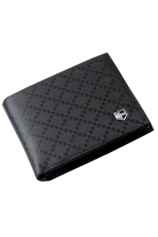 Harga Sanwood Men's Faux Leather Wallet Black