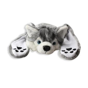 Harga PAlight Cute Animal Style Kids Plush Earmuff Hat With Scarf Gloves (Husky)