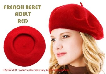 Harga French Beret Adult (Red)
