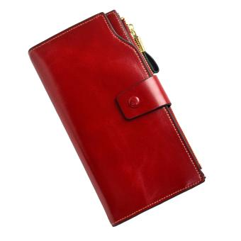 Harga ORIGINAL VERA PELLE WALLET, LEATHER LONG WOMEN'S WALLET RED