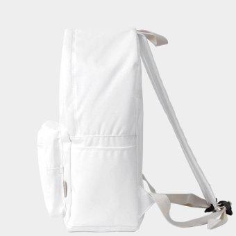 Bubilian BTBB Unisex Korean Basic Backpack (White) - Intl - 2