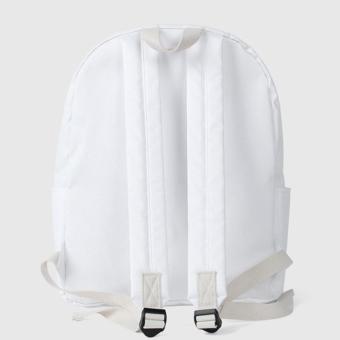 Bubilian BTBB Unisex Korean Basic Backpack (White) - Intl - 4