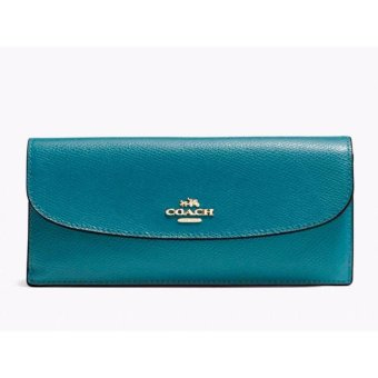 Harga Coach F54008 Soft Leather Wallet (Blue)