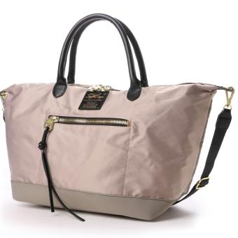 Harga anello x legato largo, original Japan 3 way tote bag should bag crossbody bag(Large size, Greige)