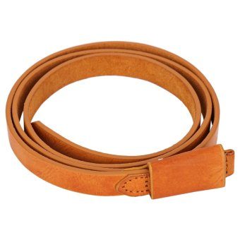 Harga Stylish Pure Color Ladies Leather Belt - intl