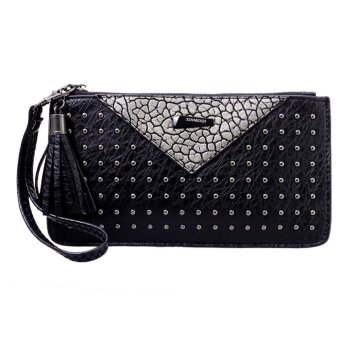 Harga Women Wallet PU Leather Clutch Wallets Ladies Long Clutches Purse - intl