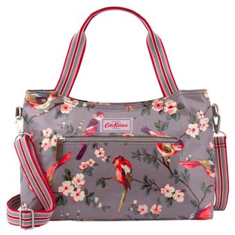 Harga Cath Kidston zipped handbag with detachable strap (Grey British bird)
