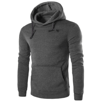 Harga GOOD Men's Hoodie Sweat Shirt Casual Jacket Coat Top M L XL XXL Sport Hoody