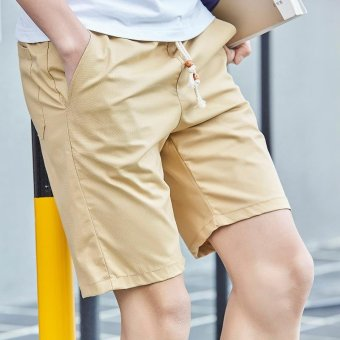 Harga Summer Men Sport Fashion Casual Shorts-Khaki - intl