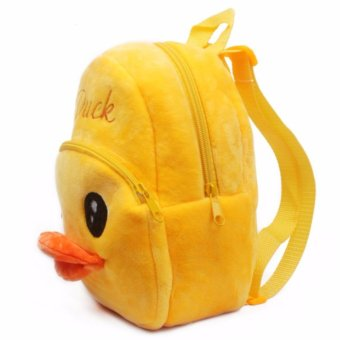 Yellow duck cute baby backpack bag lovely children year younger children age 2 small bag early learning more - intl - 2