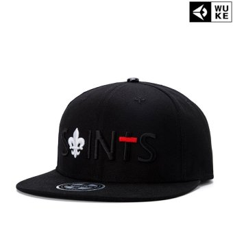 Harga Victory Fashion Man New Hats Letter Flat edge cap Hip hop Baseball cap(Black 23) - intl