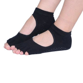 Harga PAlight Women''s Half Toe Bare Instep Yoga Socks (Black)'