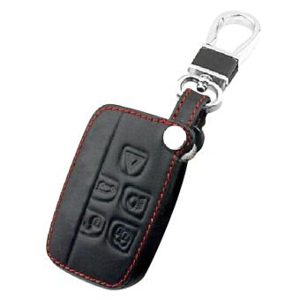 Harga 5-button Genuine Leather Car Remote Control Key Holder Cover Case Protector with Key Chain for Landrover Freelander 2 Discovery 3 4 Range Rover - intl