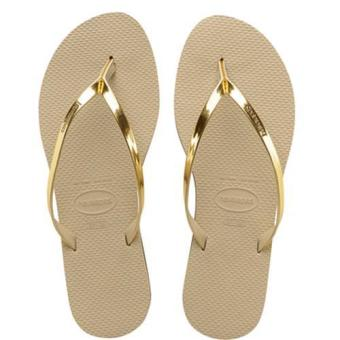 Harga Upgraded Version Havaianas Women's Slim Filp Flop Beach Shoes Slipper For Unisex Christmas Gift Birthday Present Gold - intl