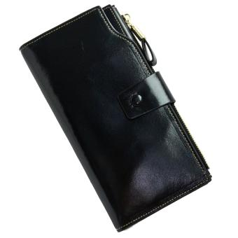 Harga ORIGINAL VERA PELLE WALLET, LEATHER LONG WOMEN'S WALLET BLACK