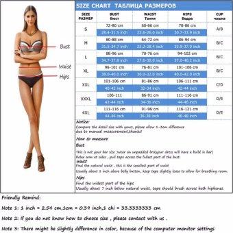 Bikinis Women Biquinis Striped Top Floral Bottom Swimsuit High Waist Bikini Brazilian Bikini Biquini(BN) - intl - 5