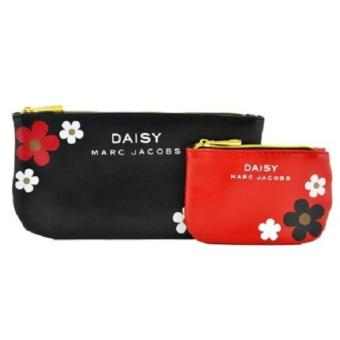 Harga Marc Jacobs Daisy Pouch Red and Black Pouch Set (CLEARANCE BELOW COST )