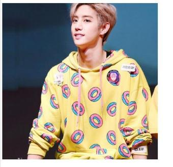 Spring autumn fashion donuts printing hoodies for men women kpop got7 mark just right bts jung kook same sweatshirt plus size - intl - 3