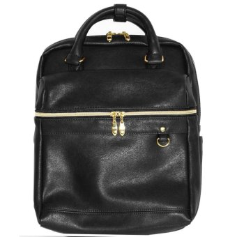 Harga anello x legato largo leather office backpack Japan hot selling fashion bag (Black color)
