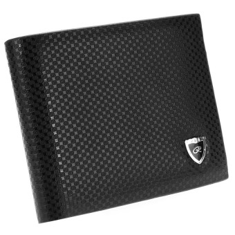 Harga Men's Synthetic Leather Wallet (Black)