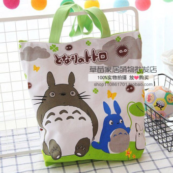 Harga Wholesale cute cartoon melody lazy egg canvas bag shoulder bag female bag portable small bag lunch box lunch bag (Totoro large)