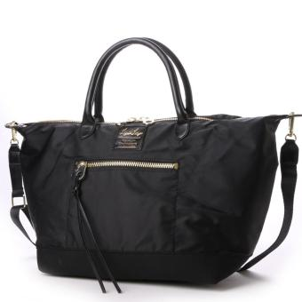 Harga anello x legato largo, original Japan 3 way tote bag should bag crossbody bag(Large size, Black)