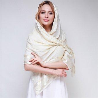 HengSong 2016 New Muslim 180*70cm Scarf Beige - 2